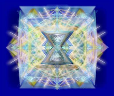 Digital Art - Chalicell Matrix Rainbow Cross Of Light by Christopher Pringer