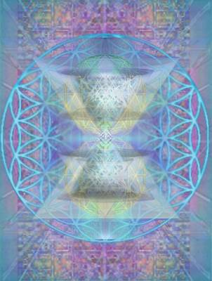 Chalicespheres And Flower Of Life Latticework Art Print by Christopher Pringer