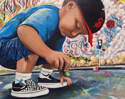 Chalk Art Creations Art Print by Randy Segura
