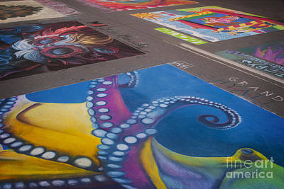 Photograph - Chalk Art. Denver Chalk Art Festival 2014 by Juli Scalzi