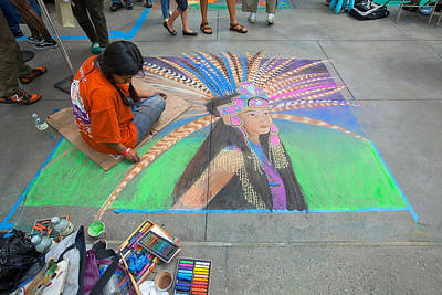 Photograph - Pasadena Chalk Art - Street Photography by Ram Vasudev