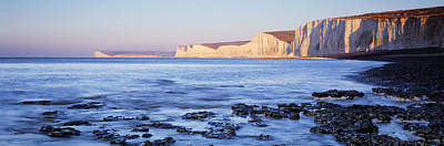 Chalk Cliffs At Seaside, Seven Sisters Art Print