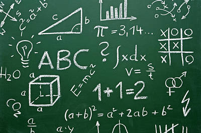 Geometric Symbol Photograph - Chalkboard by Chevy Fleet
