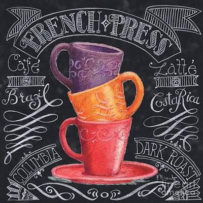 Coffee Painting - Chalkboard Coffee II by Paul Brent