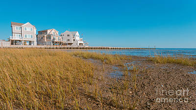 Photograph - Chalker Beach Cottages Old Saybrook Connecticut by Edward Fielding