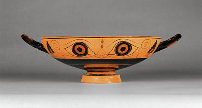 Perhaps Painting - Chalkidian Eye Cup Attributed To Phineus Painter by Litz Collection