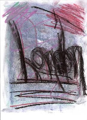 Susan Jones Drawing - Chalks - London by Susan Jones