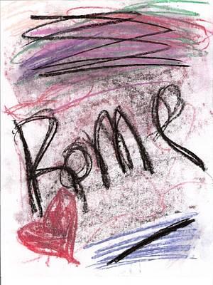 Susan Jones Drawing - Chalks - Rome by Susan Jones