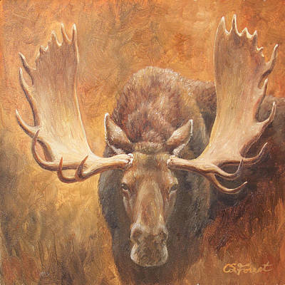Stag Painting - Bull Moose - Challenge by Crista Forest
