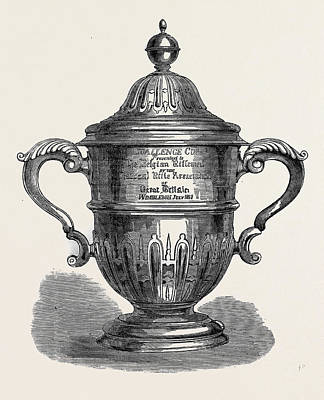 Challenge Cup Presented To The Belgian Riflemen Print by English School