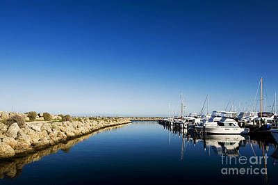 Art Print featuring the photograph Challenger Harbour Of Fremantle by Yew Kwang