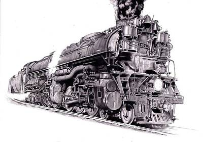 Challenger Drawing - Challenger Locomotive by Nick Naethuijs