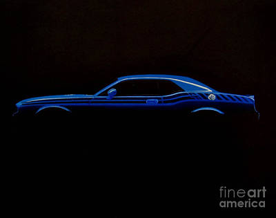 Fading Drawing - Challenger Silhouette by Paul Kuras