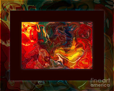 Challenges And Moments In Time Abstract Healing Art Art Print by Omaste Witkowski