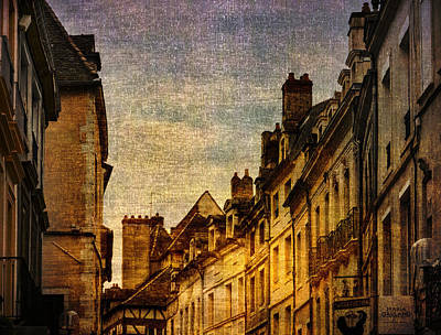 Photograph - Chalone Sur Soane Rooftops Gold by Bob Coates