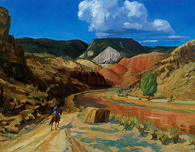 Chama River Painting - Chama Running Red by John Sloan