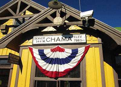 Railroads Photograph - Chama Train Station by Kurt Van Wagner