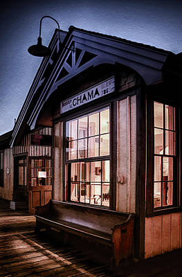 Wooden Platform Photograph - Chama Train Station by Priscilla Burgers