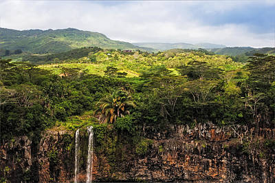 Photograph - Chamarel Waterfall. Mauritius by Jenny Rainbow