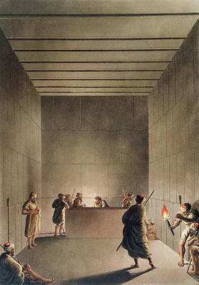 Tomb Drawing - Chamber And Sarcophagus In The Great by Luigi Mayer