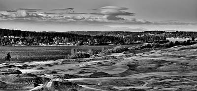 Golf Photograph - Chambers Bay Golf Course - Site Of The 2015 U.s. Open Golf Tournament by David Patterson