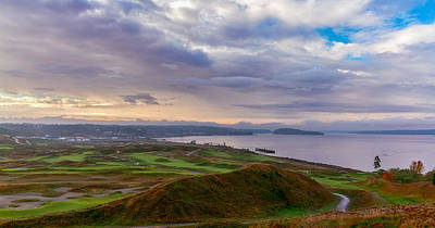 Chambers Bay Links Art Print by Ken Stanback