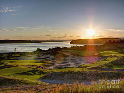 Photograph - Chambers Bay Sun Flare - 2015 U.s. Open  by Chris Anderson