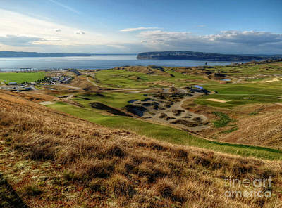 Us Open Photograph - Chambers Bay View 2013  by Chris Anderson