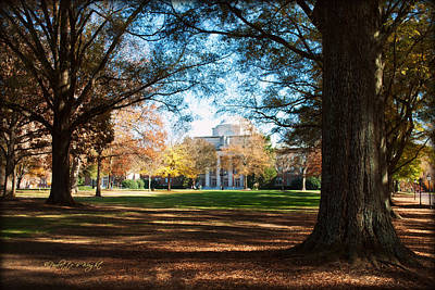 Photograph - Chambers Building - Davidson College by Paulette B Wright