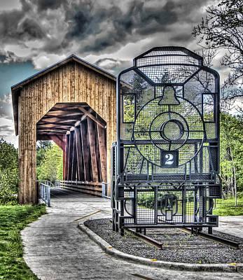 Photograph - Chambers Covered Bridge by Thom Zehrfeld