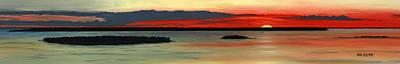 Chambers Island Sunset II Art Print