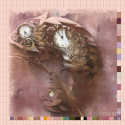 Lizards Digital Art - Chameleon - J085076033-sp11 by Variance Collections