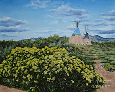 New Mexico Painting - Chamisa Season by Mary Rogers