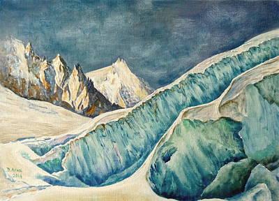 Chamonix Painting - Chamonix by Danielle Arnal