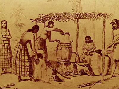 Mixed Media - Chamorro Women During Spanish Colonization by Michelle Dallocchio