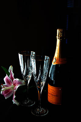 Photograph - Champagne And Flowers by Barbara J Blaisdell
