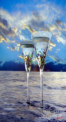 Brut Mixed Media - Champagne At Sunset by Jon Neidert