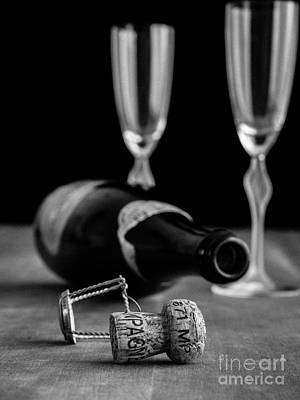 Dark Photograph - Champagne Bottle Still Life by Edward Fielding