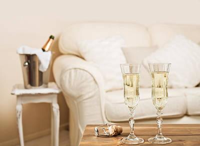 Bubbly Photograph - Champagne by Amanda Elwell