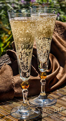 Champagne For Two Art Print by Iris Richardson