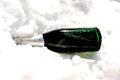 Champagne In Ice Art Print by Marwan Khoury