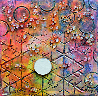 Mixed Media - Champagne In The Moonlight by Donna Blackhall