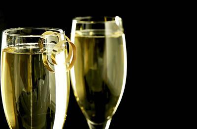 Champagne Art Print by Karin Hildebrand Lau