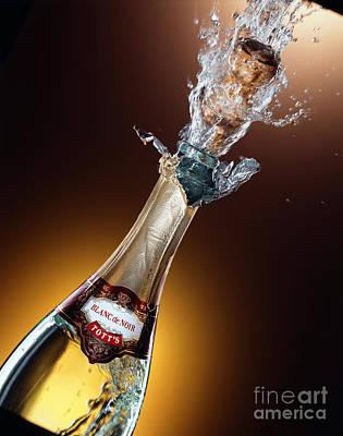 Champagne Art Print by Mel Lindstrom