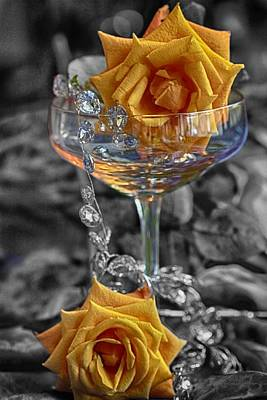 Moet Wall Art - Photograph - Champagne Roses Diamonds by Anne Christie