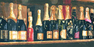 Champagne Row Art Print