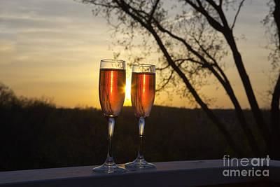 Champagne Sunset Art Print by Kay Pickens