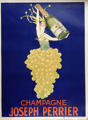 Champagne Art Print by Vintage Images