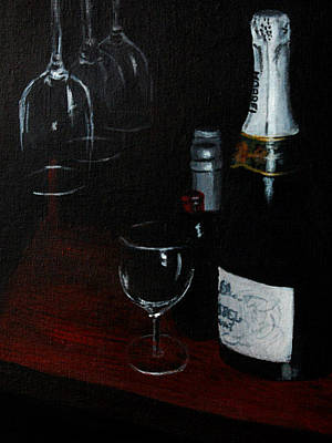 Painting - Champagne Waiting  by Barbara J Blaisdell