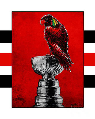 Hawk Digital Art - Champion Blackhawks by Jason Meents
